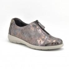 3530 - Suave Zapato cuña gris