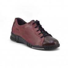 3210 - Suave Zapato cordón burdeos