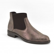 150-2512 - Botin tacon cuadrado marron