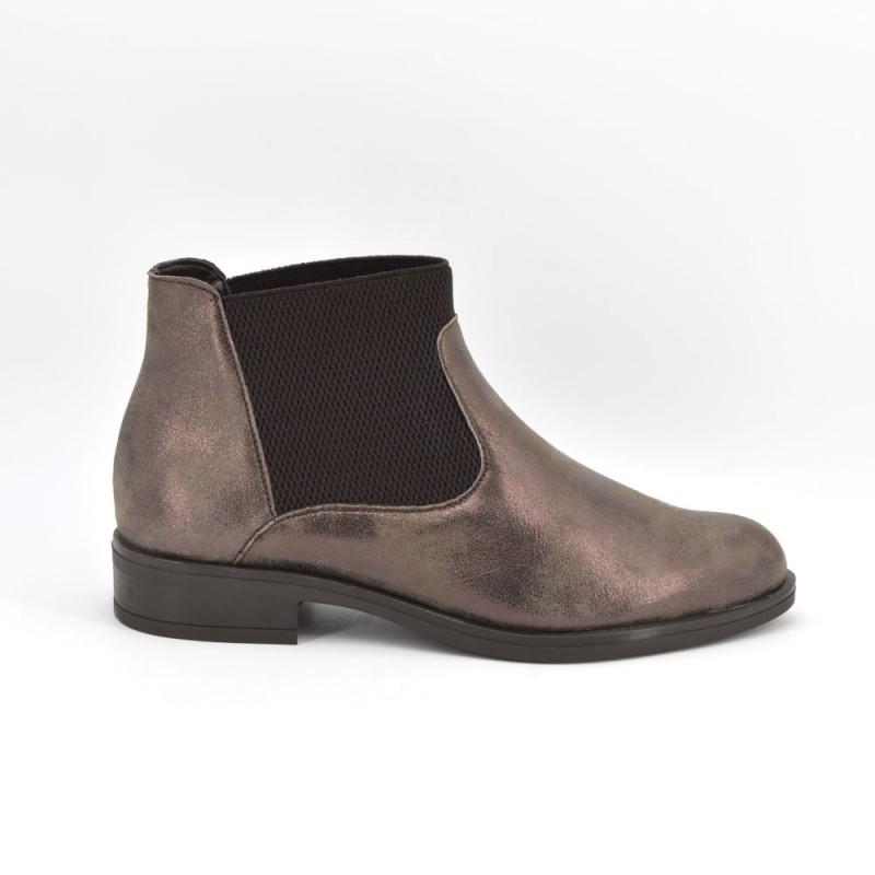 df9494a3eff Comprar 150-2512 - Botin tacon cuadrado marron online - Zapatos D Garry