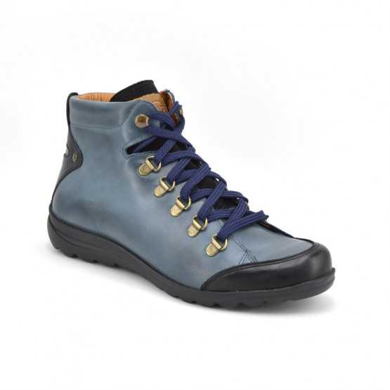 15135 - Botin cordones azul