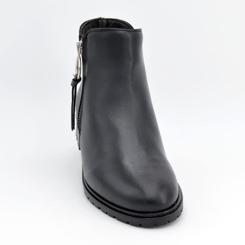 discapacidades estructurales mejor coleccion donde puedo comprar Comprar 7031 - Botin de tacon bajo en negro online - Zapatos ...
