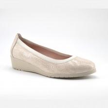 Zapato Cuña Mujer Piel Beig