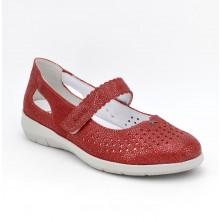 3632 - Suave Zapato Plantilla Piel Rojo