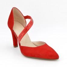 Zapatos Tacón Piel Rojo