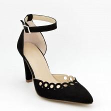 Zapatos Tacón Piel Negro