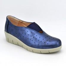 Zapato Cuña Piel Vaquero