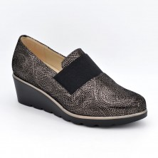 3725 - D'Chicas Zapato cuña gris