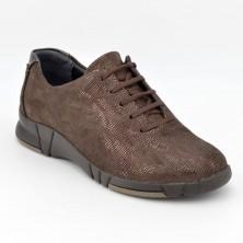 3204 - Suave Zapato cordón marron