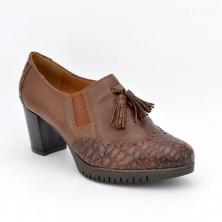 1061180 - Zapato abotinado borlas cuero