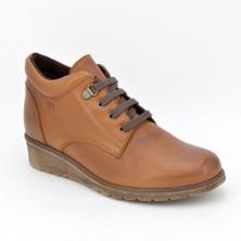 1101 - Botín cordones marrón