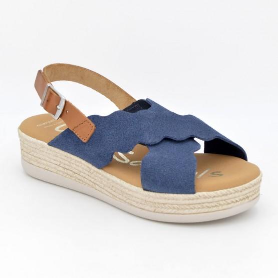 4682 - Oh Sandals Sandalia Piel Marino