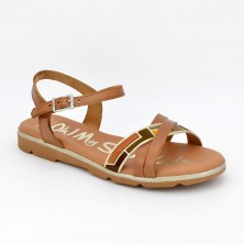 4652 - Oh Sandals Sandalia Piel Caoba