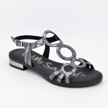 4655 - Oh Sandals Sandalia Piel Plomo