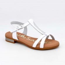 4826 - Oh Sandals Sandalia plana Piel Blanco