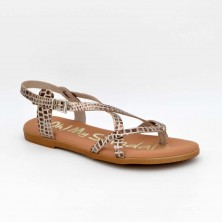 4802 - Oh Sandals Sandalia plana Piel Dorado