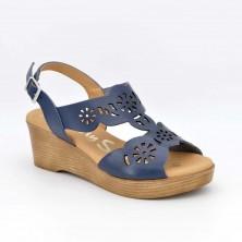 4855 - Oh Sandals Sandalia cuña Piel Marino