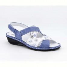 3013 - Suave Sandalia plantillas Piel Azul