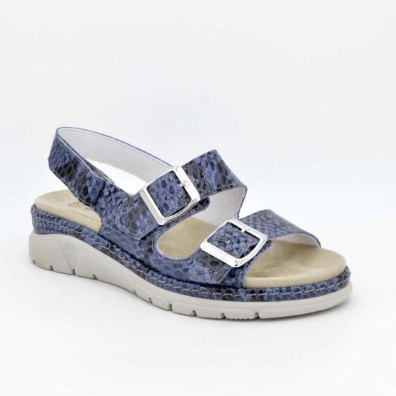 3356 - Suave Sandalia plantillas Piel Azul