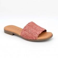 1407 - Kaola Zueco trenzado Piel Rojo