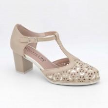 6652 - Pitillos Zapato tacón Piel Nude