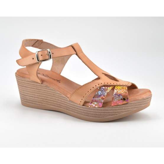 119a9192b7 Comprar Sandalia Plataforma Mujer Piel Caoba online - Zapatos D Garry