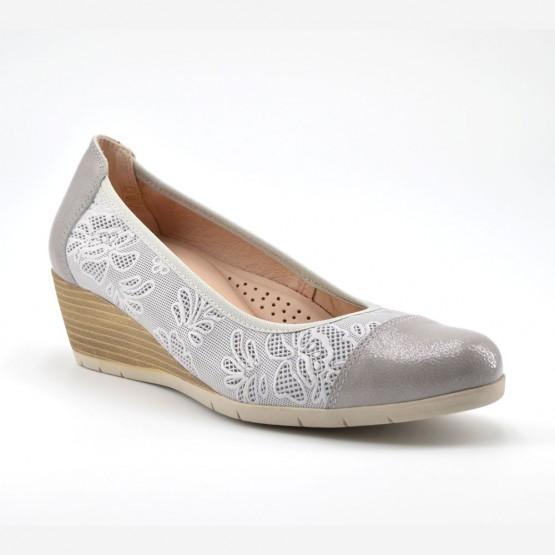 bd226667694a Zapato Cuña Mujer Piel Gris