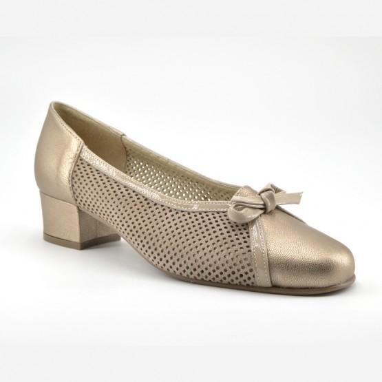 Zapato Tacón Mujer Piel Taupe
